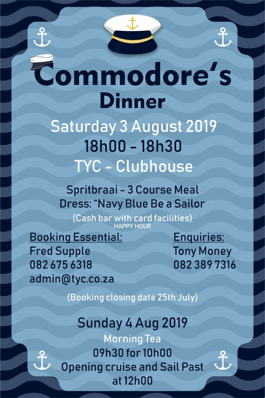 Commodores Dinner – TYC Yacht Club